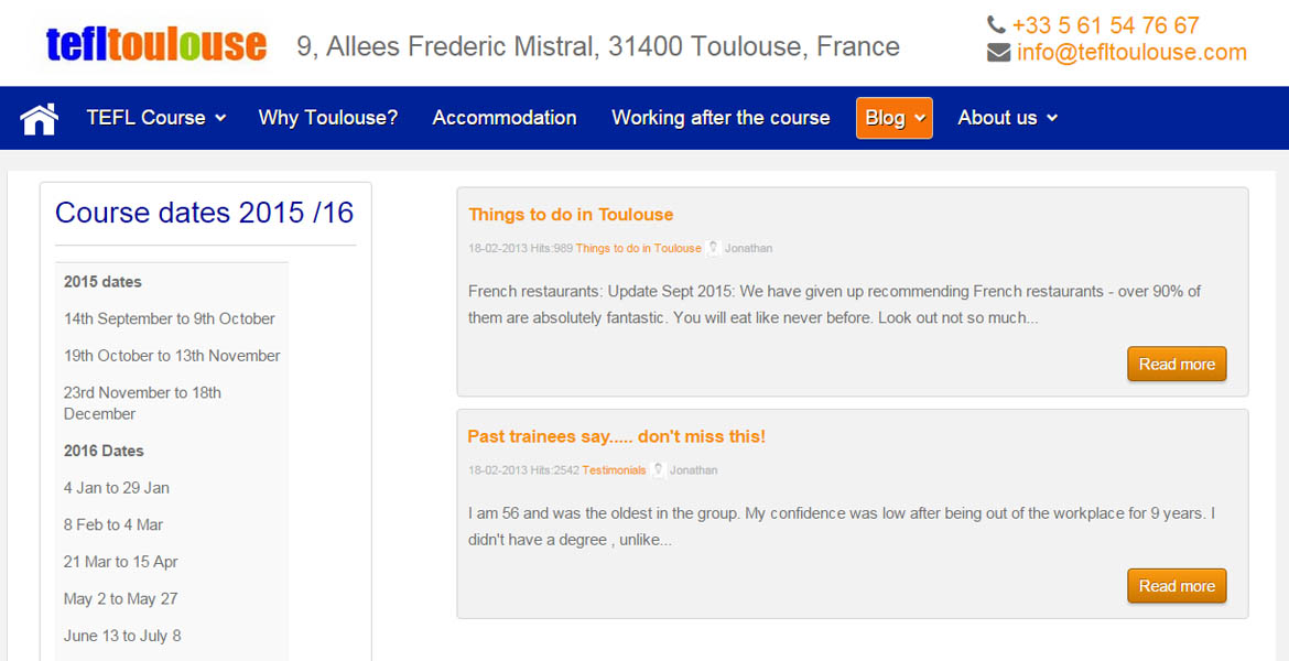 TEFL Toulouse Certification Courses