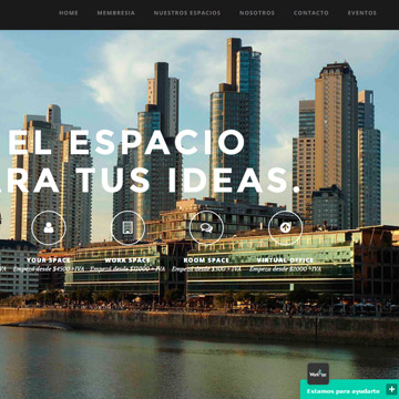 Wordpress for temporary work spaces website